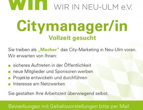 Citymanager/in in Vollzeit gesucht