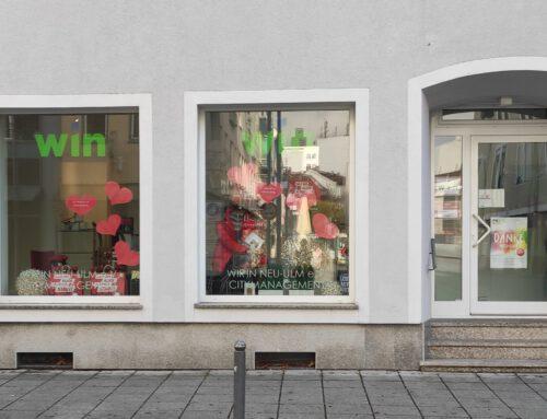 """Pop-Up-Store"" in der wín-Geschäftsstelle, Citymanagement Neu-Ulm"